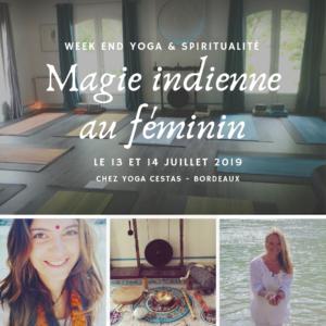 Week-end Magie indienne au féminin – 13 et 14 juillet – accompte de réservation